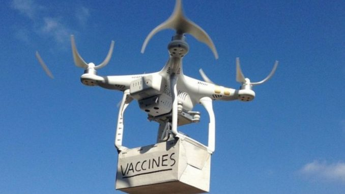 Drone use Permission to Telangana Government for Experimental delivery of Covid-19 Vaccines