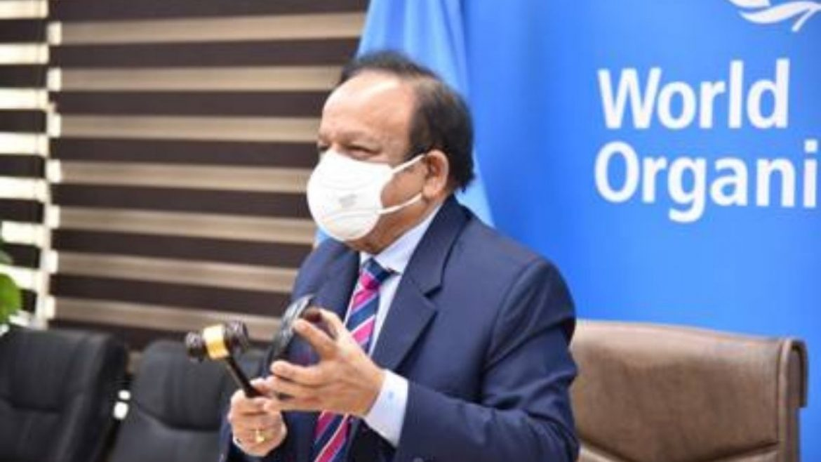"""""""The time to act is now,"""" says Dr. Harsh Vardhan while virtually addressing the 149th Session of the WHO Executive Board Meeting"""