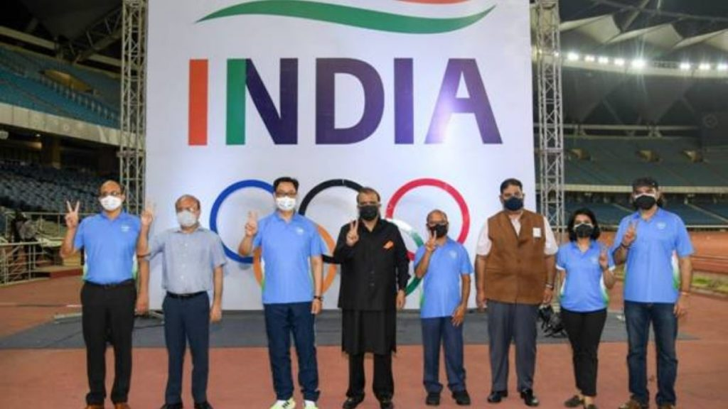 Union Minister for Youth Affairs and Sports Shri Kiren Rijiju launches the official Theme Song for the Indian Olympic Team to Tokyo 2020