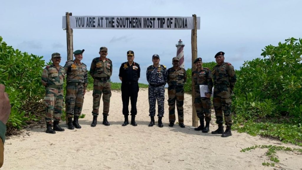 CINCAN visits units of ANC in Nicobar Group of Islands