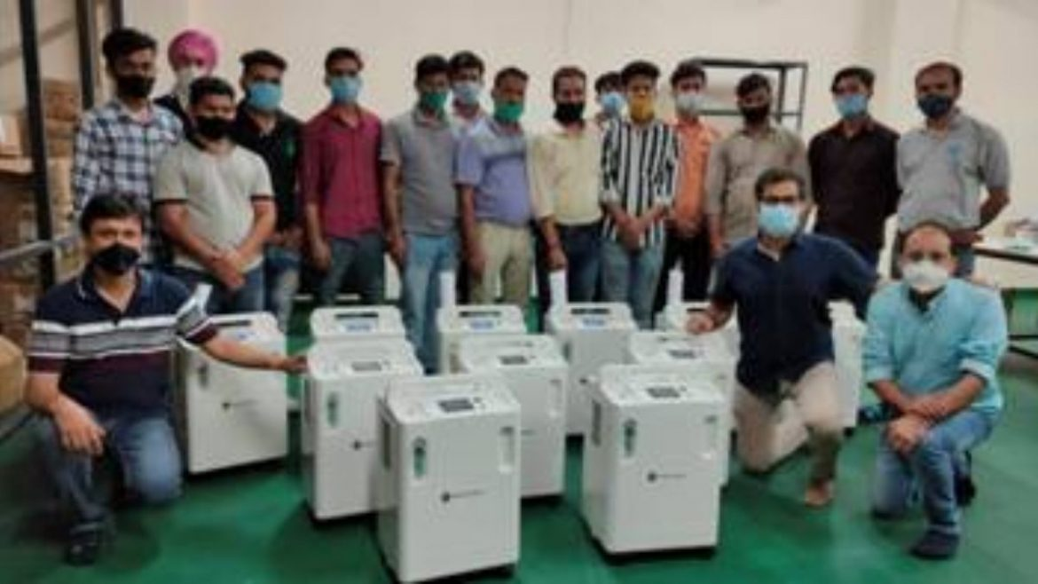 Indigenously designed and manufactured high purity oxygen concentrator being supplied to Indian hospitals