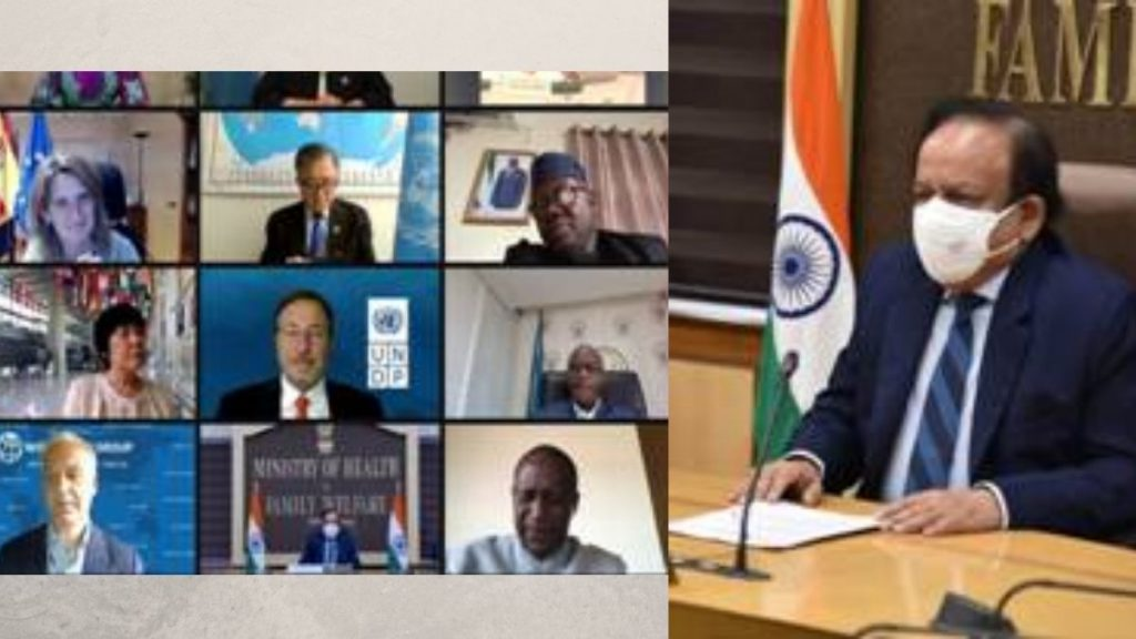 Dr. Harsh Vardhan addresses the WHO High-Level Coalition on Health and Energy Platform of Action