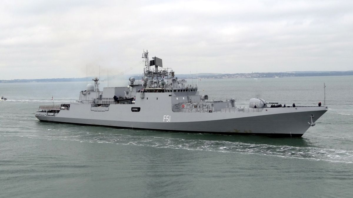 Maiden Indian Navy - European Union Naval Force (EUNAVFOR) Exercise in Gulf Of Aden
