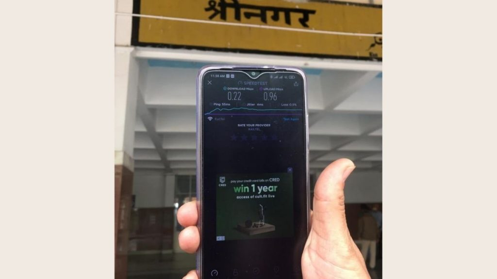 All 15 Kashmir Valley Railway Stations, including Srinagar, get integrated with 6021 Station Rail Wi-Fi Network