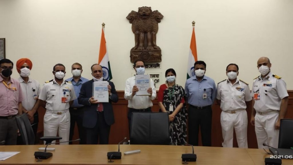MoD signs contract with GSL for construction of two Pollution Control Vessels for Indian Coast Guard