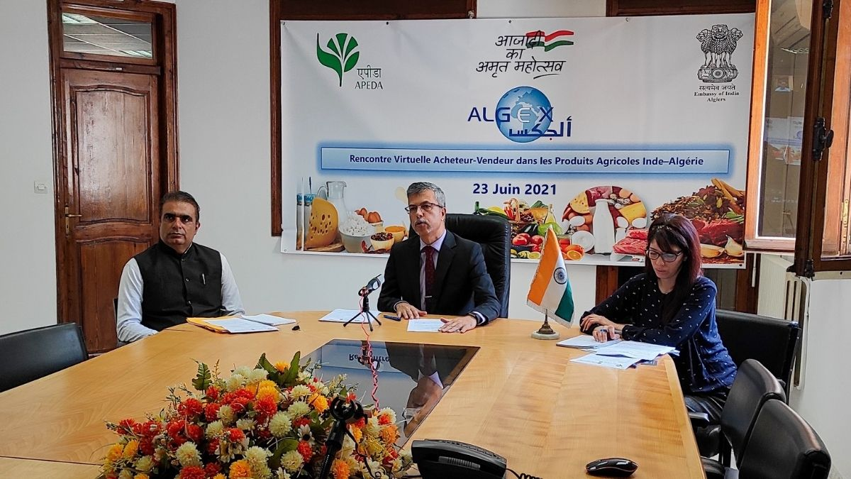 APEDA in collaboration with the Indian embassy organizes a virtual buyer-seller meet for boosting agricultural and processed food products exports to Algeria