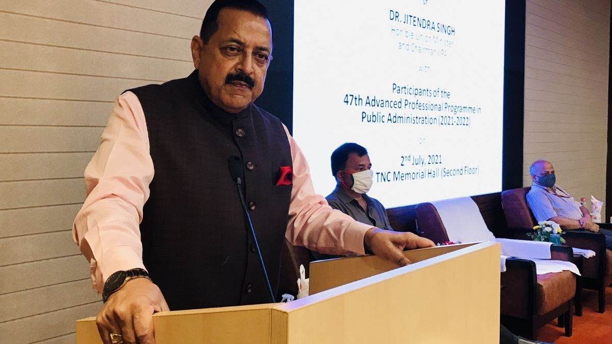 Union Minister Dr. Jitendra Singh says, Role more than Rule is important for today's Civil Servant