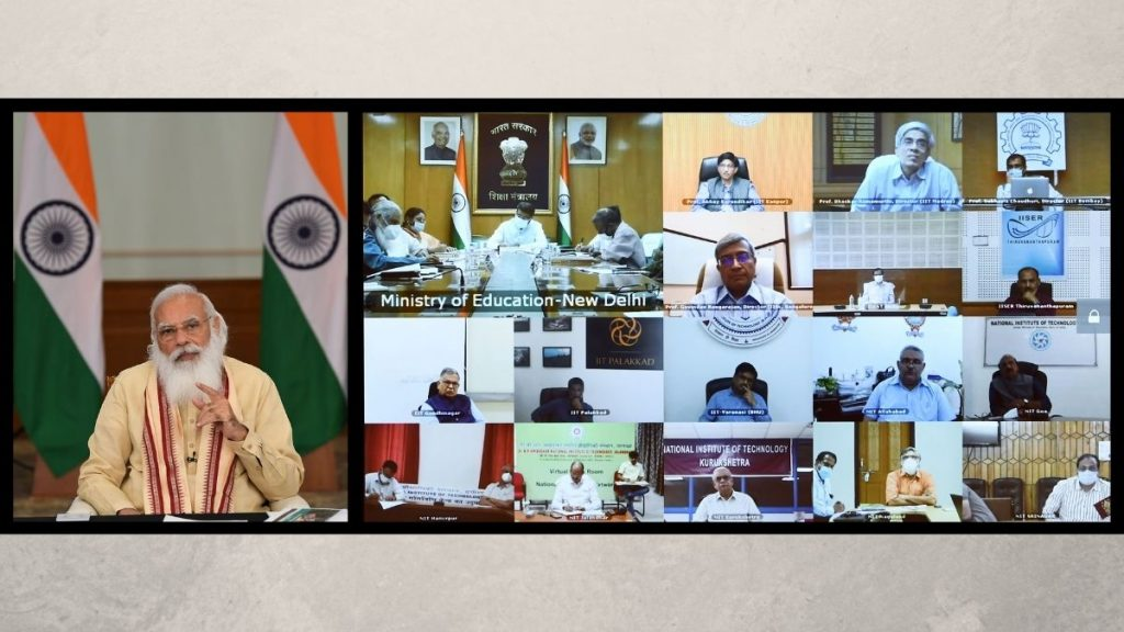 Prime Minister interacts with Directors of Centrally Funded Technical Institutions