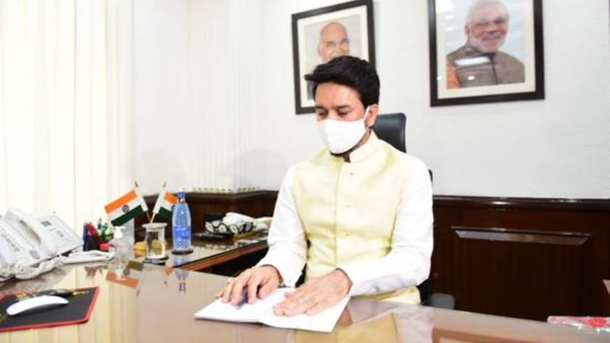 Shri Anurag Thakur takes charge as Minister of Information and Broadcasting