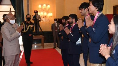 President of India Hosts 'High Tea' for Indian Contingent of Tokyo Olympics 2020