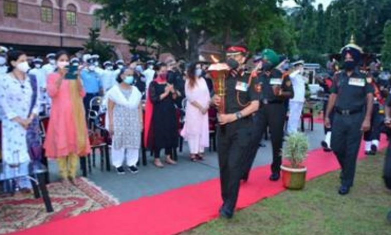 Swarnim Vijay Varsh Victory Flame at Cellular Jail