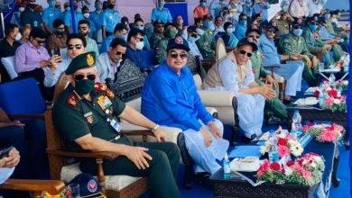 Raksha Mantri Shri Rajnath Singh and Minister for Road Transport & Highways Shri Nitin Gadkari inaugurate Emergency Landing Facility for Indian Air Force in Barmer, Rajasthan