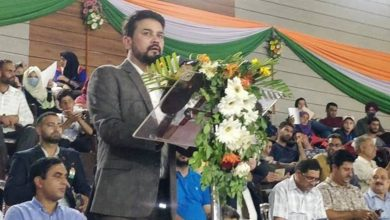 Rs 200 Cr. allotted for Development of sports infrastructure on the modern pattern in U.T of J and K: Shri Anurag Thakur