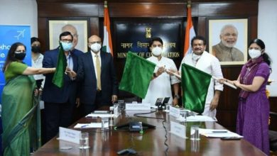 Civil Aviation Minister Shri Jyotiraditya Scindia flags off a direct flight on the Agra-Lucknow route under UDAN