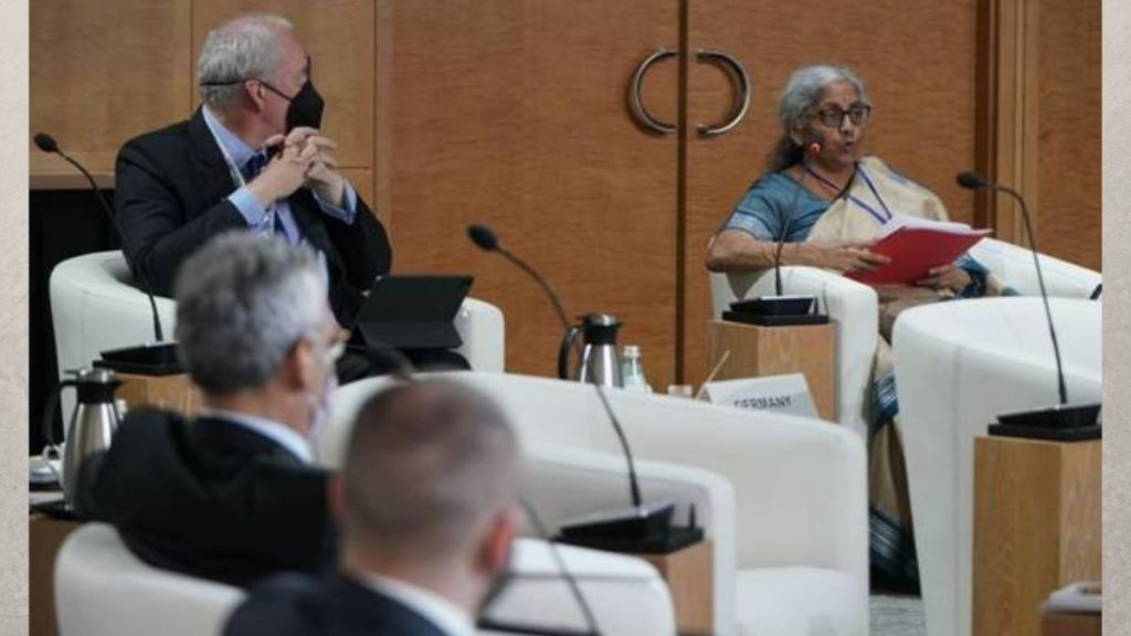 Finance Minister Smt. Nirmala Sitharaman attends the 4th G20 Finance Ministers and Central Bank Governors (FMCBG) Meeting in Washington D.C.
