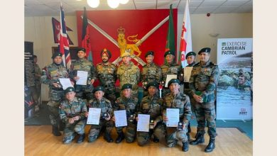 INDIAN ARMY TEAM WINS GOLD MEDAL IN EXERCISE CAMBRIAN PATROL ORGANISED AT BRECON, WALES (UK)