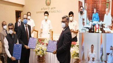 MOU with NHAI and TIDCO for Development of Multi-Modal Logistics Park (MMLP) in Chennai Port's land