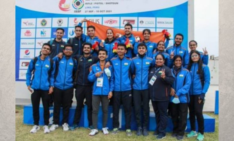 PM lauds the Indian shooting team for topping the medal tally at the Junior World Championships