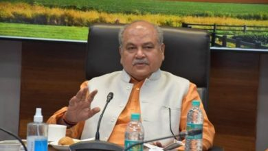 Union Minister Shri Narendra Singh Tomar inspects and reviews cleanliness at Krishi Bhawan, New Delhi