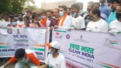 Union Minister for Youth Affairs and Sports Shri Anurag Thakur motivates youth for 'Clean India Programme'