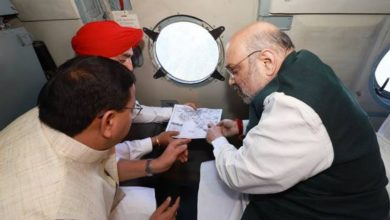 Union Minister of Home Affairs and Minister of Cooperation Shri Amit Shah conducted an aerial survey to review the situation in Uttarakhand following rains, floods and landslides